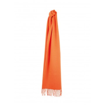 Sinclair Duncan Solid Colour Woven Cashmere Scarf - Orange