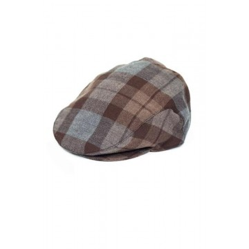Official Outlander Tartan Wool Flat Cap-L