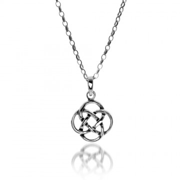 Celtic Knot Sterling Silver Pendant Necklace
