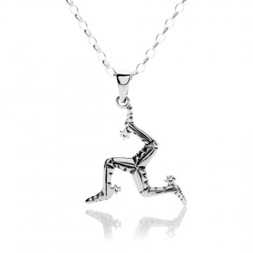 Celtic Manx Sterling Silver Pendant Necklace