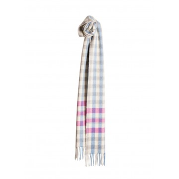 Sinclair Duncan 100% Woven Cashmere Scarf - Pink Meigle