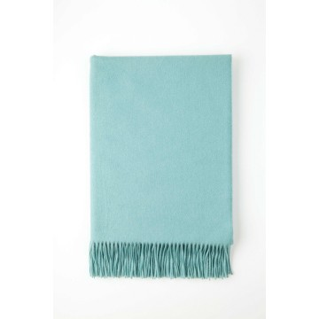 Johnston's of Elgin Plain Cashmere Throw - Green