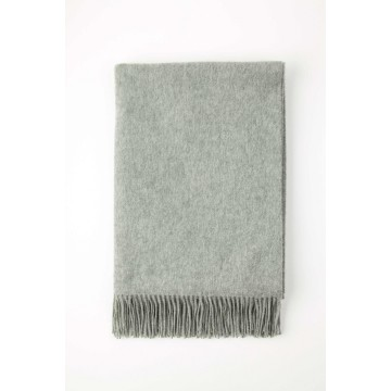 Johnston's of Elgin Plain Cashmere Throw - Light Grey