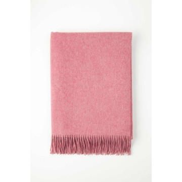 Johnston's of Elgin Plain Cashmere Throw - Rose
