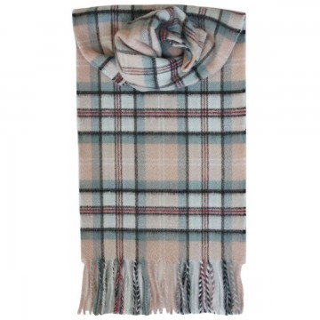 Lochcarron Princess Diana Memorial Rose Tartan Cashmere Scarf - Made in Scotland
