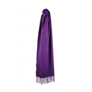 Sinclair Duncan Solid Colour Woven Cashmere Scarf - Navy