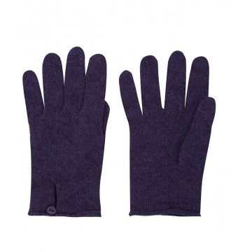 Cashmere Button Loop Glove - Purple