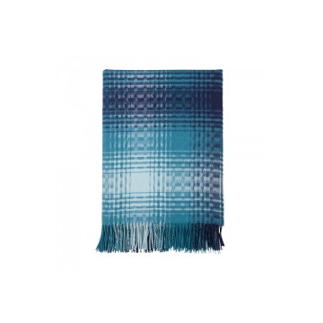 Johnston's of Elgin 'QEST' Elaborate Check Throw - Blue