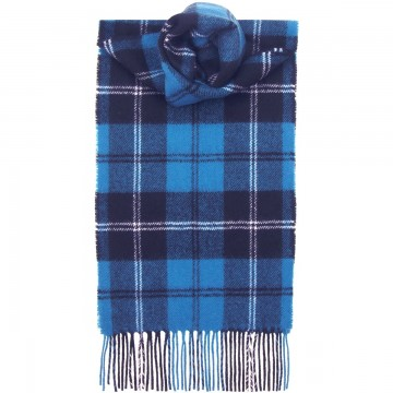 Ramsay Blue Ancient Tartan 100% Lambswool Scarf by Lochcarron