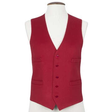 Red Boltby Pure New Wool Waistcoat
