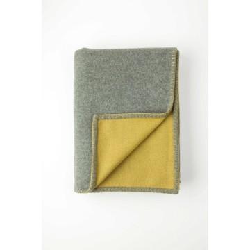 Johnston's of Elgin Wool Blend Reversible Throw - Mid Grey