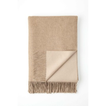 Johnston's of Elgin Cashmere Reversible Throw - Heather