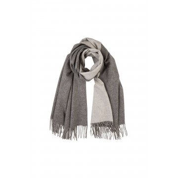 Cashmere Contrast Reversible Stole - Grey
