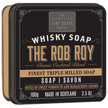 The Rob Roy Whisky Soap in a Tin
