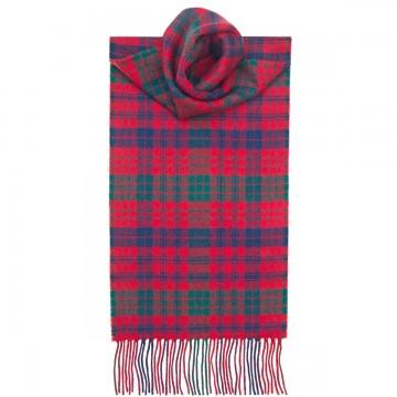 Ross Red Modern Tartan 100% Lambswool Scarf by Lochcarron