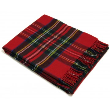 Bronte by Moon 100% Lambswool Tartan Throw - Royal Stewart