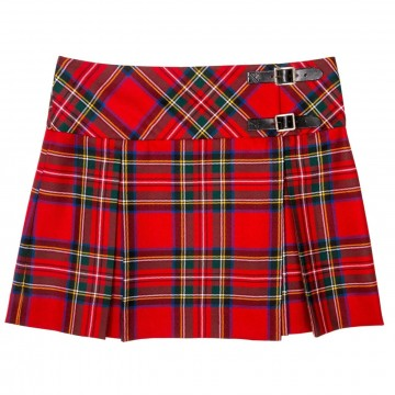Lochcarron Ladies Tartan Pure New Wool Billie Kilt - Made in Scotland