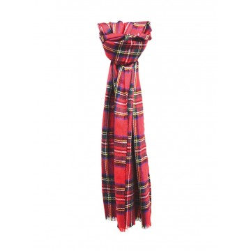 Sinclair Duncan Royal Stewart Tartan Cashmere and Silk Lightweight Scarf