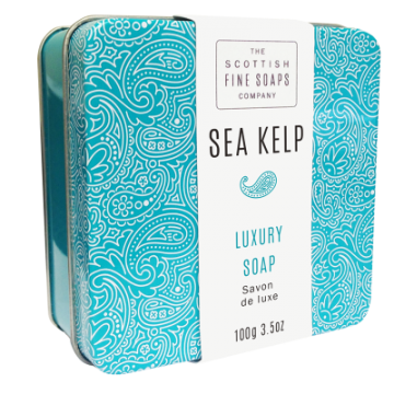Sea Kelp Scottish Fine Soap in a Tin - 100g Triple Milled