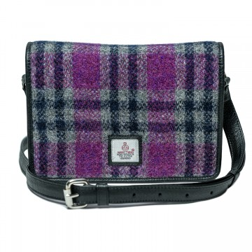 Maccessori Harris Tweed Shoulder Bag in Pink Check
