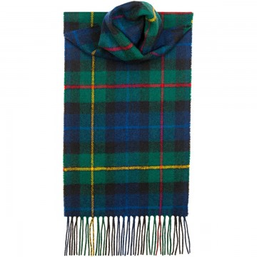 Smith Modern Tartan 100% Lambswool Scarf by Lochcarron