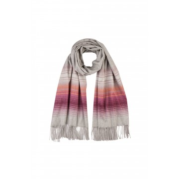 Cashmere Ombre Tip Stole - Soft Berry