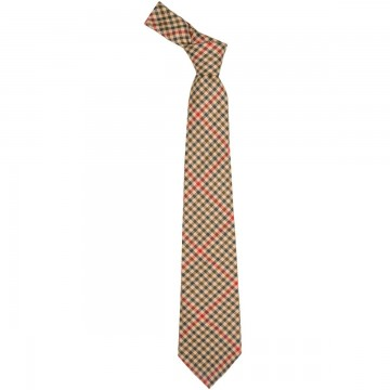 St Abbs Check Lochcarron of Scotland Tweed Wool Tie