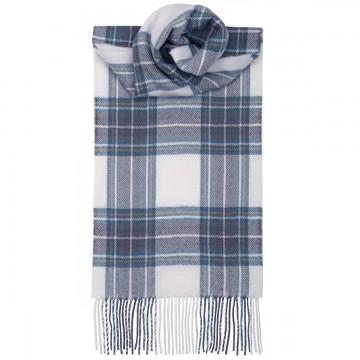 Stewart Blue Dress  Tartan 100% Lambswool Scarf by Lochcarron