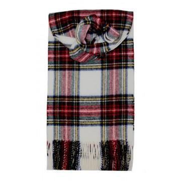 Stewart Dress Modern Tartan 100% Lambswool Scarf by Lochcarron