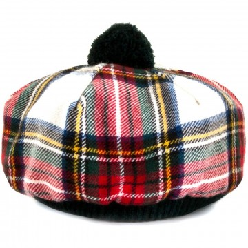 Stewart Dress Tartan Brushed Wool Tam