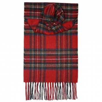 Stewart Royal Tartan 100% Cashmere Scarf by Lochcarron of Scotland