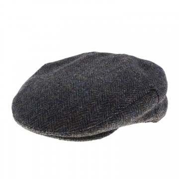Failsworth Sherlock Deerstalker Hat in Olive Green & Brown 2013 Herringbone Harris Tweed