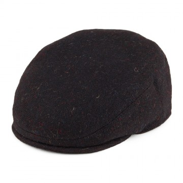 Failsworth Stornoway Harris Tweed Flat Cap - Flecked Brown