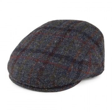 Failsworth Stornoway Flat Cap in Grey Tartan Check 6010 Harris Tweed