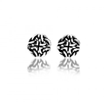 Celtic Knot Silver Stud Earrings
