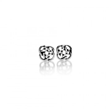Celtic Knot Small Silver Stud Earrings
