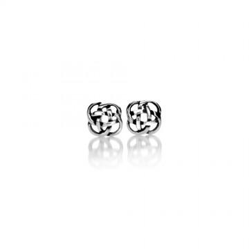 Celtic Knot Small Silver Stud Earrings