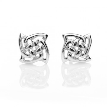 Celtic Knots Silver Stud Earrings