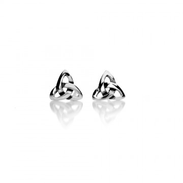 Celtic Trinity Knot Silver Stud Earrings