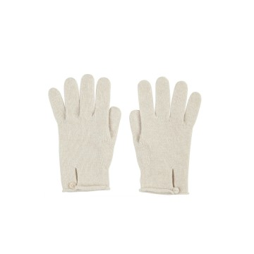 Cashmere Button Loop Glove - Swansdown
