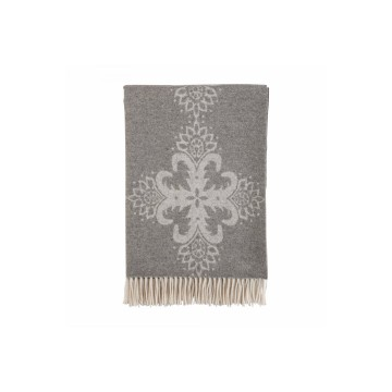 Johnston's of Elgin Talisman Throw - Grey