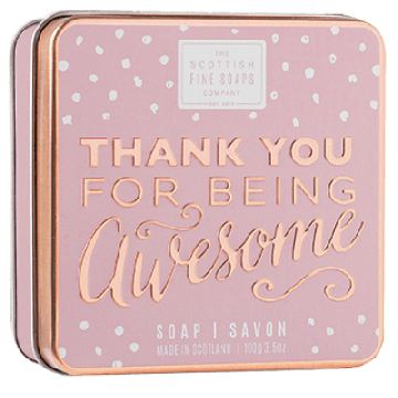 Thank You for Being Awesome Soap in a Tin