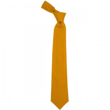 Gold Plain Coloured Wool Tie
