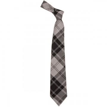 Douglas Grey Modern Tartan Tie
