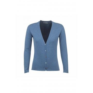 Cashmere Classic V-Neck Cardigan - Jean