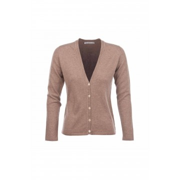 Cashmere Classic V-Neck Cardigan - Otter