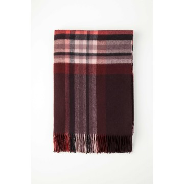 Johnston's of Elgin Cashmere Vintage Check Throw - Kingussie
