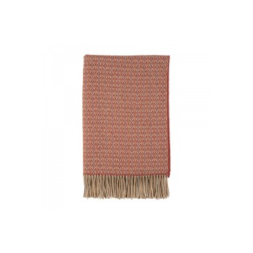 Johnston's of Elgin Lambswool Vintage Throw - Rust