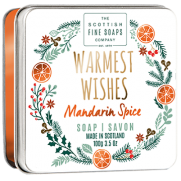 Warmest Wishes Christmas Soap in a Tin