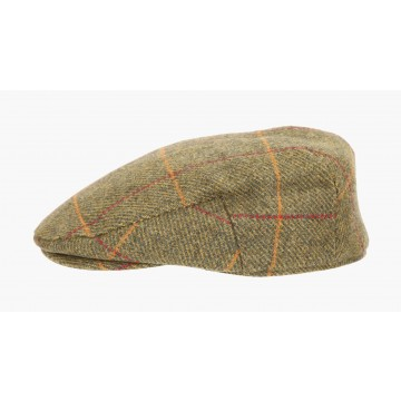 Failsworth Waterproof Flat Cap - Mustard Yellow Windowpane Check